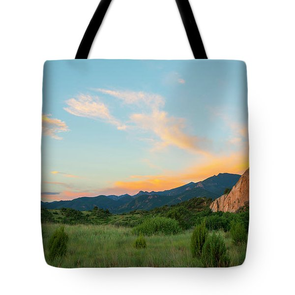 Tote Bag featuring the photograph Morning View by Tim Reaves