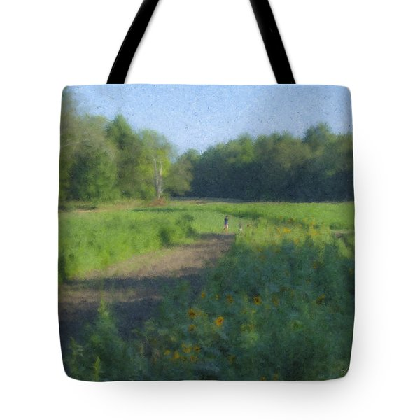 Morning Walk At Langwater Farm Tote Bag