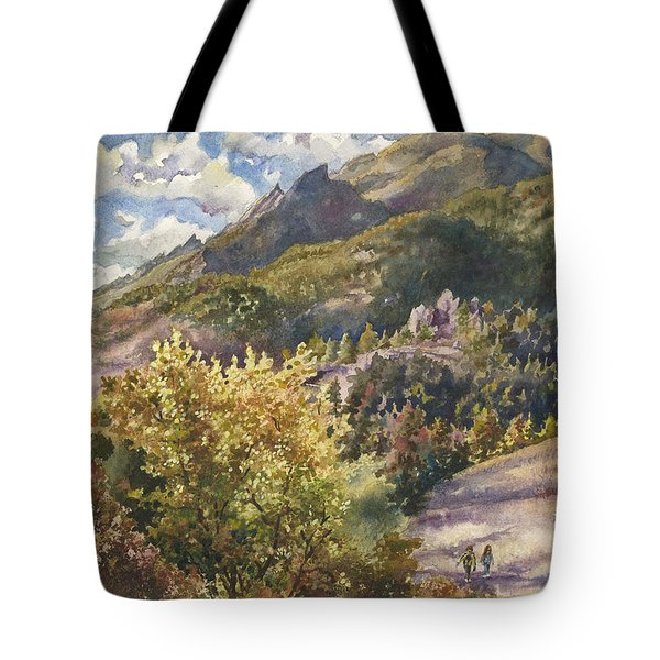 Morning Walk At Mount Sanitas Tote Bag
