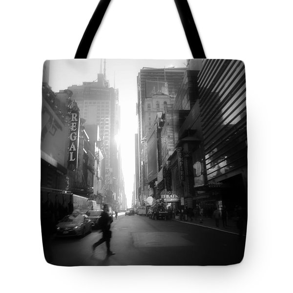 Tote Bag featuring the photograph Morning Walk In Ny by Ross Henton