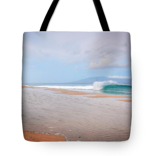 Tote Bag featuring the photograph Morning Wave by Kelly Wade