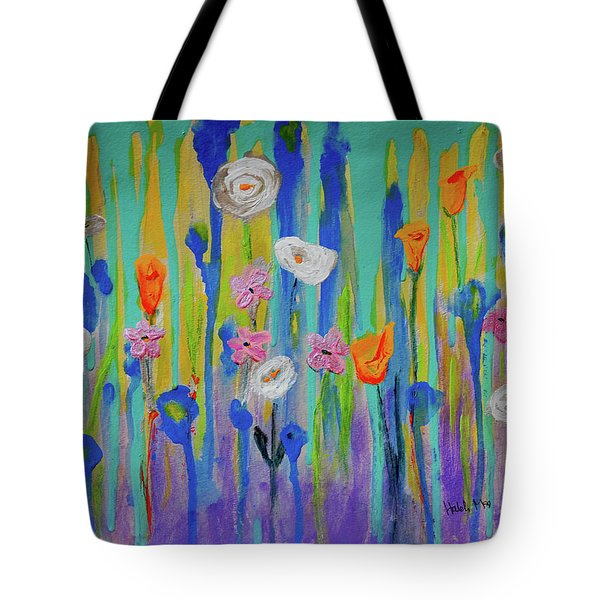Morning Wildflowers Tote Bag