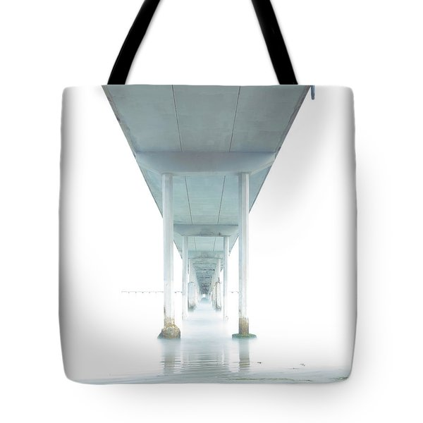 Tote Bag featuring the photograph Mornings Underneath The Pier by James Sage