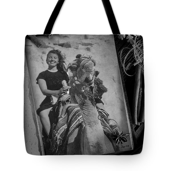 Tote Bag featuring the photograph Moroccan Camel Trek by Kathy Kelly