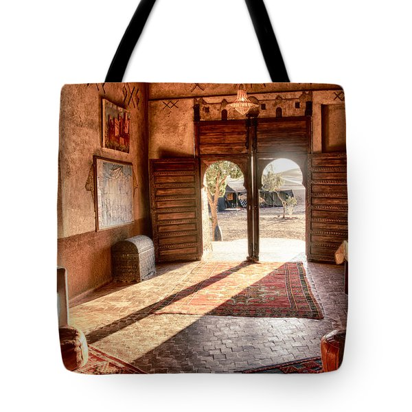 Moroccan Kasbah Tote Bag by Kathy Adams Clark
