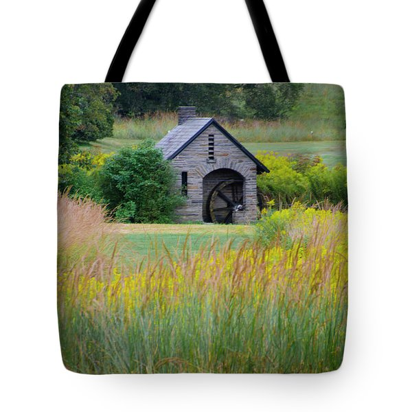 Tote Bag featuring the photograph Morris Arboretum Mill In September by Bill Cannon