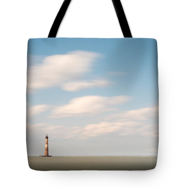 Morris Island Lighthouse Color Tote Bag