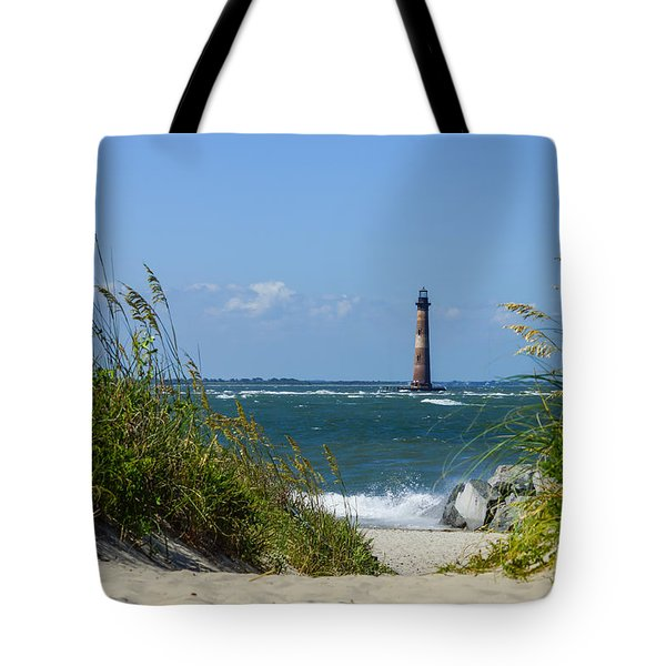 Morris Island Lighthouse Walkway Tote Bag