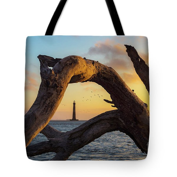 Morris Island View Tote Bag
