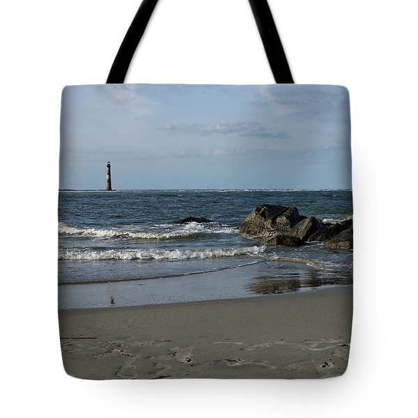 Tote Bag featuring the photograph Morris Lighthouse by Sandy Keeton