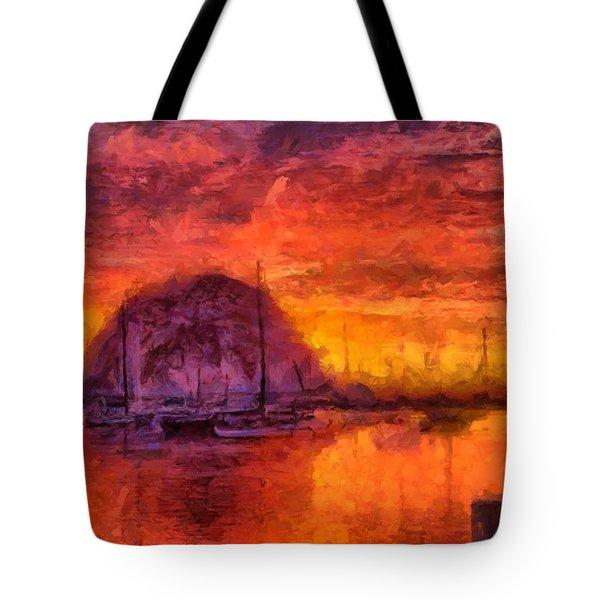 Morro Bay Marina Tote Bag