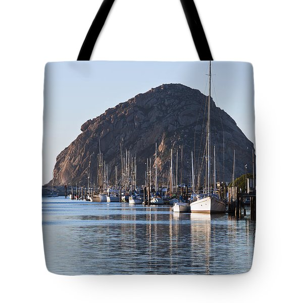 Morro Bay Sailboats Tote Bag by Bill Brennan - Printscapes