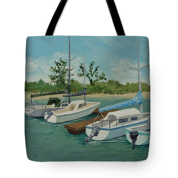 Tote Bag featuring the painting Morro Bay State Park Ca by Katherine Young-Beck