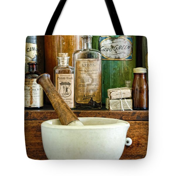 Mortar And Pestle Tote Bag by Jill Battaglia