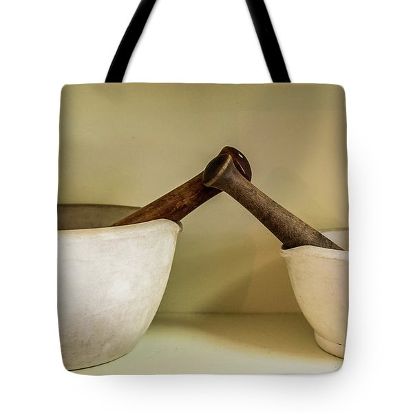 Tote Bag featuring the photograph Mortar And Pestle by Paul Freidlund