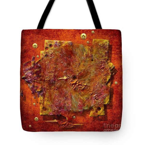 Tote Bag featuring the painting Mortar Disc by Alexa Szlavics