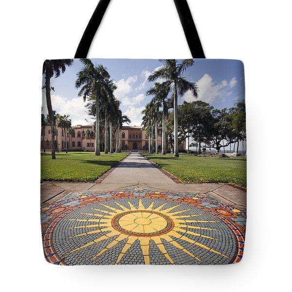 Mosaic At The Ca D Tote Bag by Mal Bray