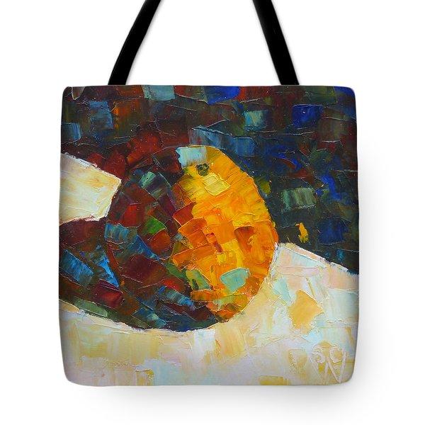 Mosaic Citrus Tote Bag by Susan Woodward