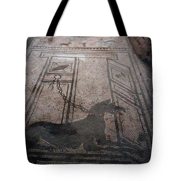 Mosaic In Pompeii Tote Bag by Marna Edwards Flavell