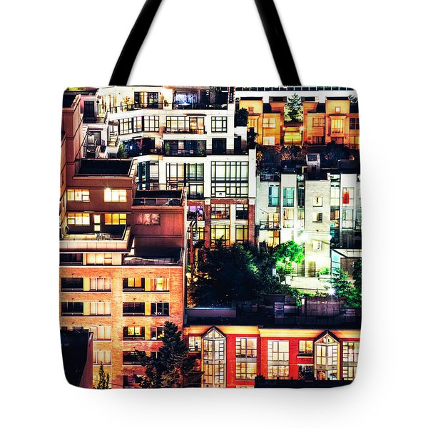 Mosaic Juxtaposition By Night Tote Bag