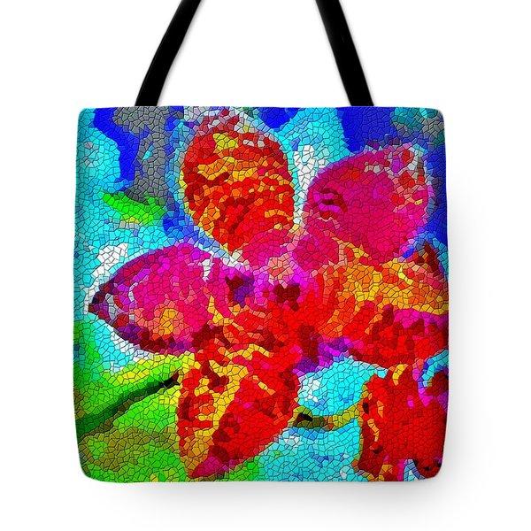 Mosaic Orchid Tote Bag