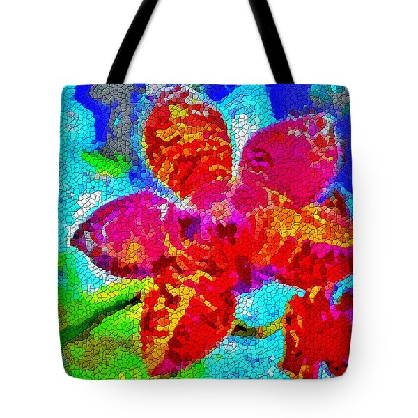 Mosaic Orchid Tote Bag