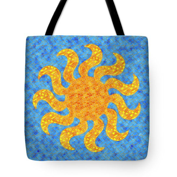 Mosaic Stained-glass Of The Sun Tote Bag