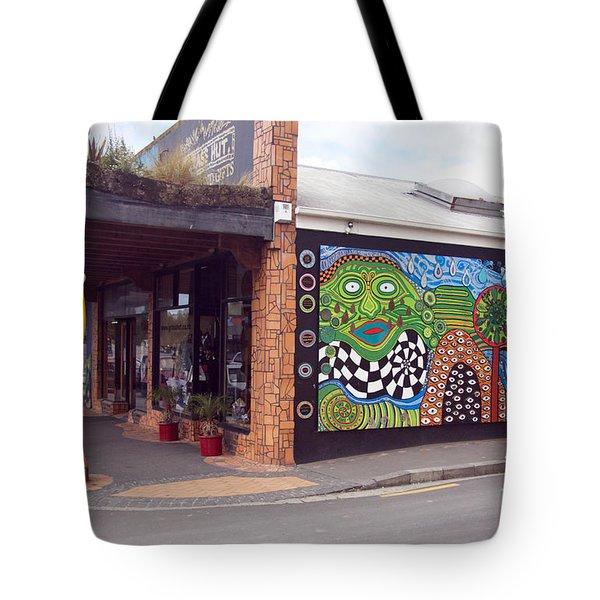 Mosaic Street Art Tote Bag