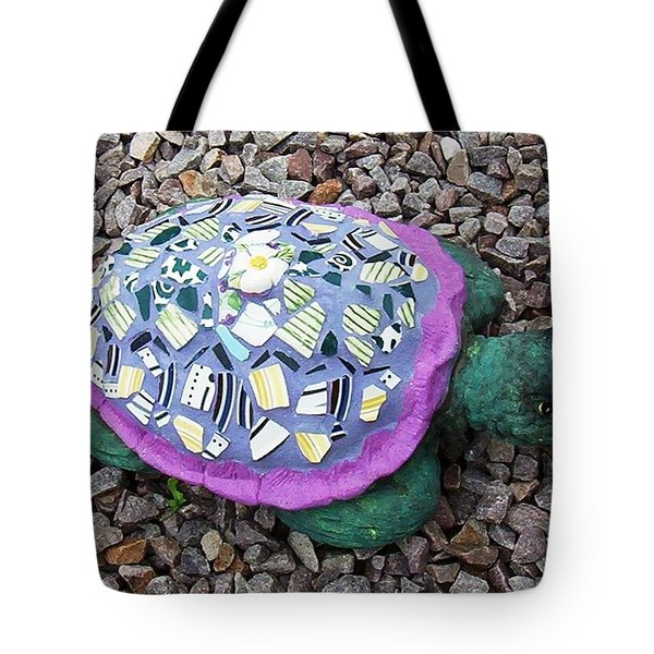 Tote Bag featuring the ceramic art Mosaic Turtle by Jamie Frier