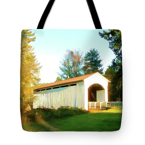 Mosby Creek Covered Bridge Tote Bag