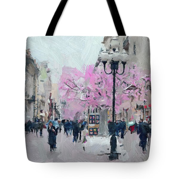 Moscow Arbat Street View Tote Bag