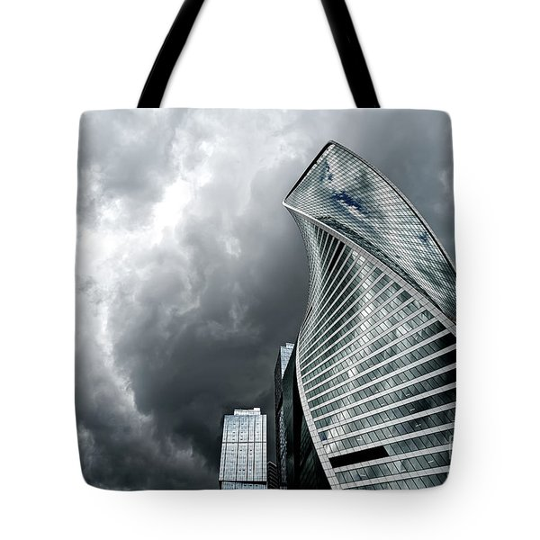 Moscow City And Storm Tote Bag