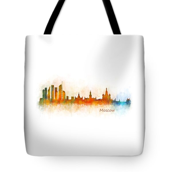 Moscow City Skyline Hq V3 Tote Bag by HQ Photo