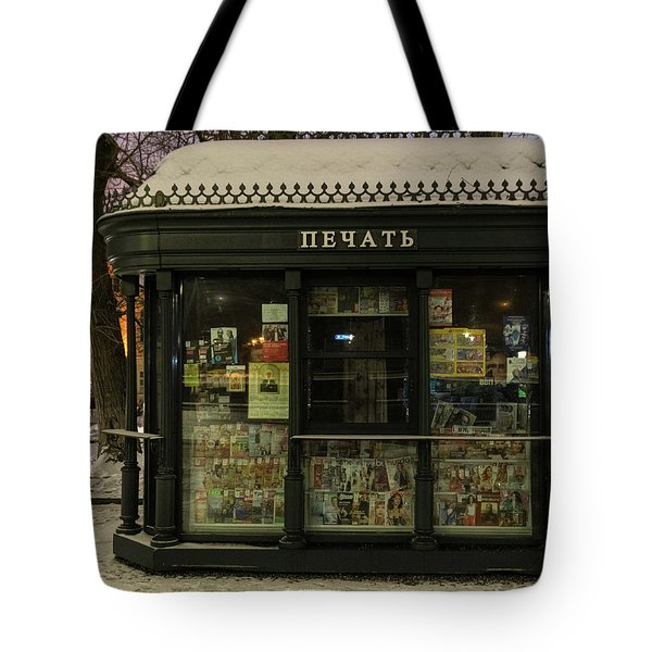 Moscow Newsstand Tote Bag