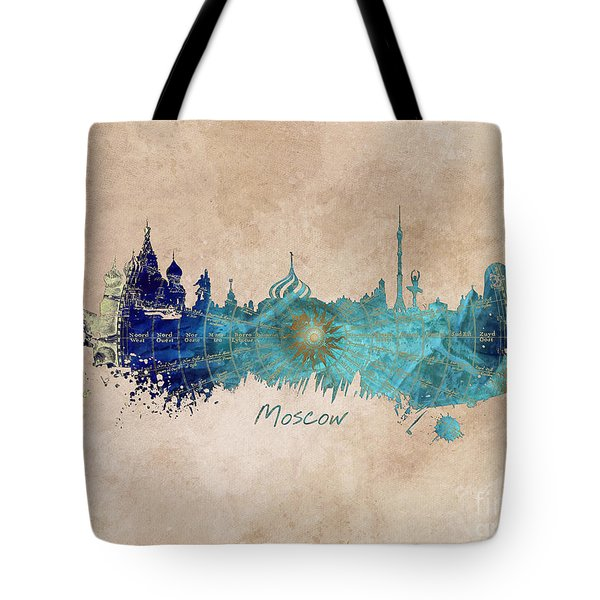 Moscow Skyline Wind Rose Tote Bag