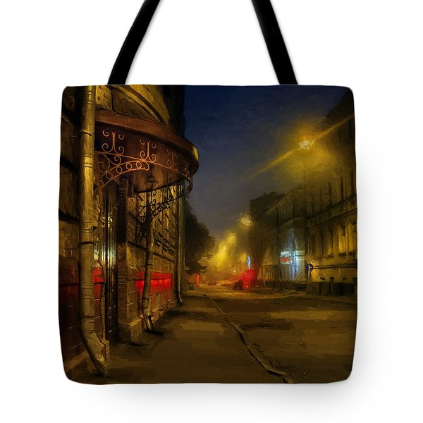 Tote Bag featuring the photograph Moscow Steampunk Sketch by Alexey Kljatov