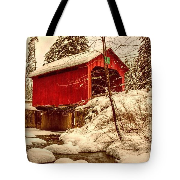 Moseley Covered Bridge In Northfield Tote Bag