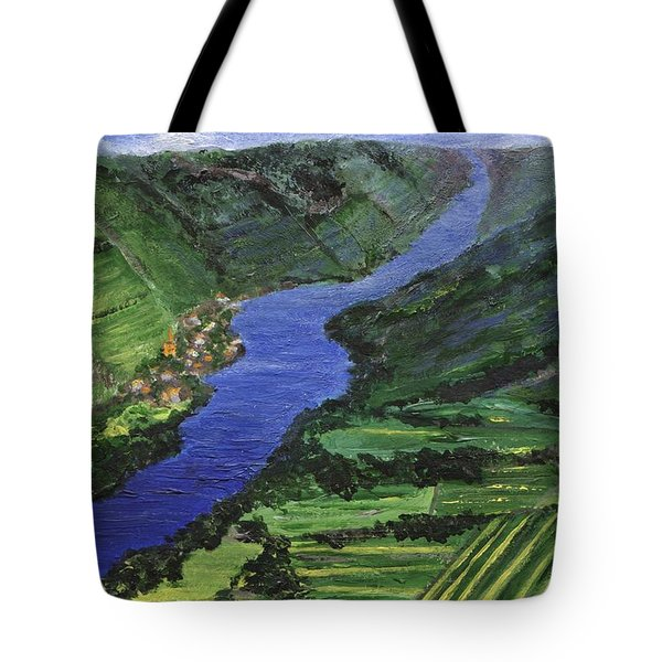 Tote Bag featuring the painting Moselle River by Jamie Frier