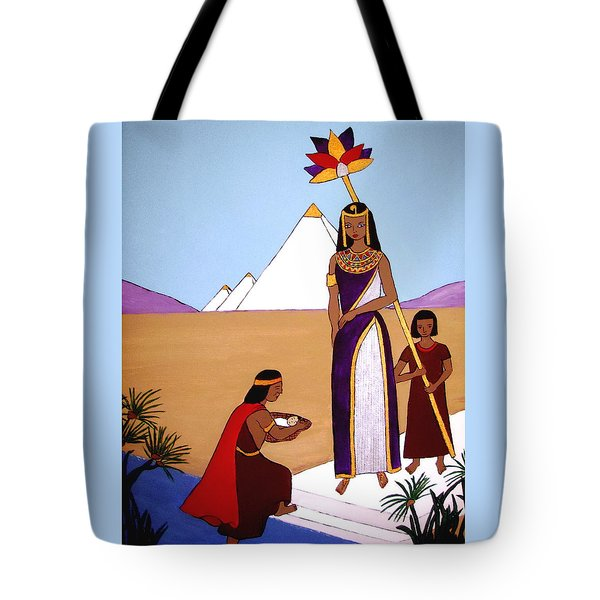 Tote Bag featuring the painting Moses In The Bullrushes by Stephanie Moore