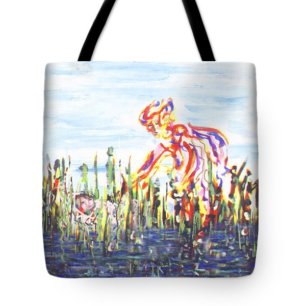 Moses In The Rushes Tote Bag