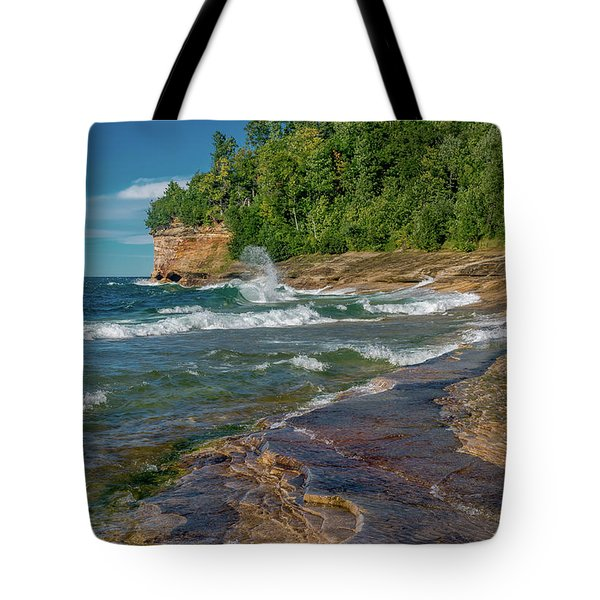 Mosquito Harbor Waves  Tote Bag