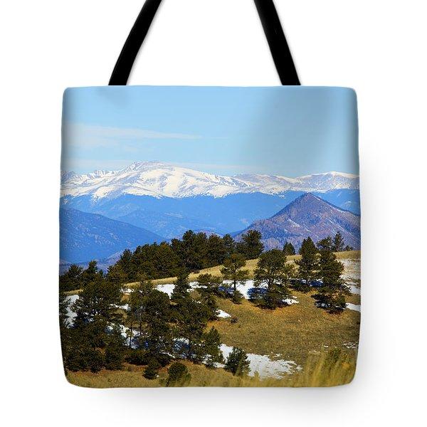 Mosquito Range Mountains Tote Bag