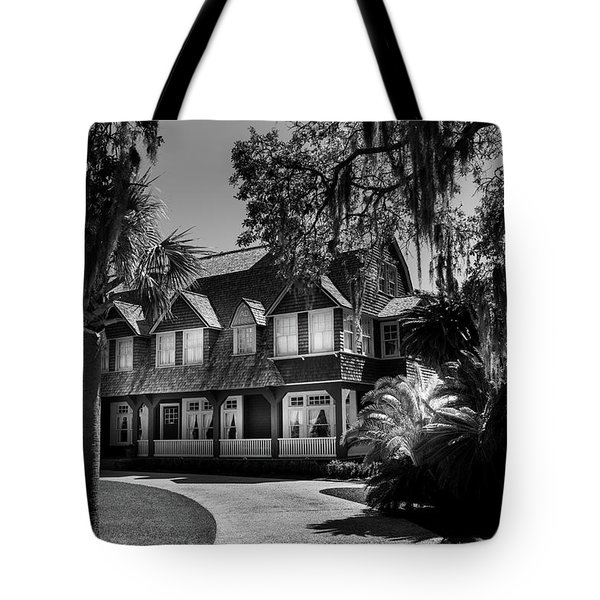 Moss Cottage In Black And White Tote Bag