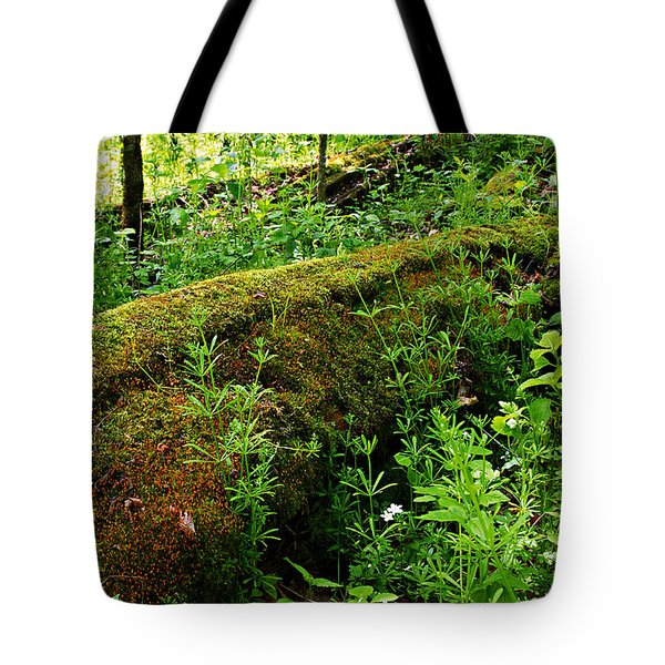 Moss Covered Log 2 Tote Bag