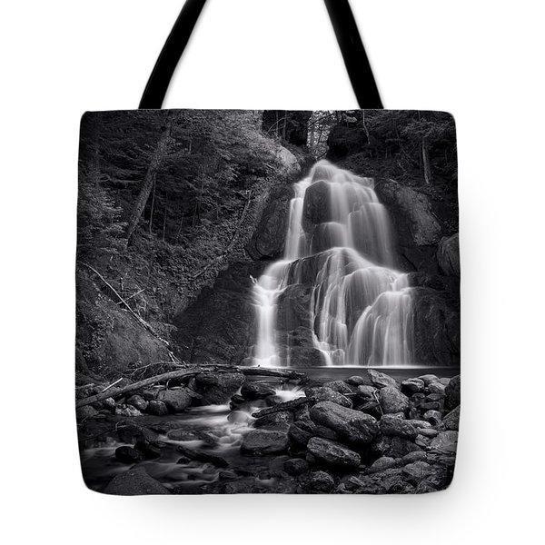 Moss Glen Falls - Monochrome Tote Bag