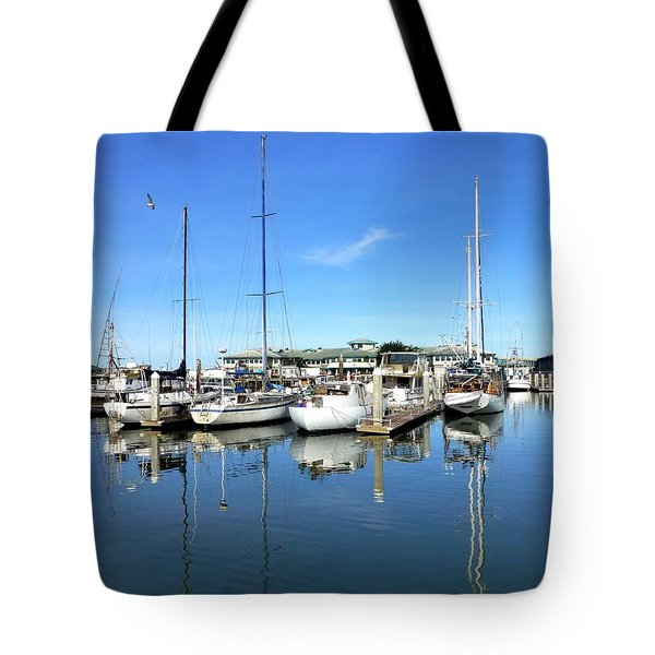 Moss Landing Harbor Tote Bag by Amelia Racca