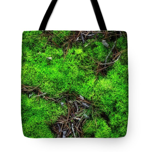 Tote Bag featuring the photograph Moss On The Hillside by Mike Eingle