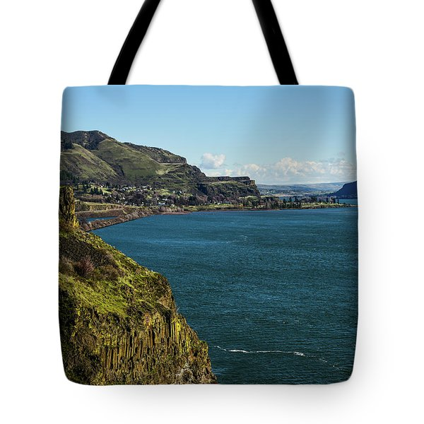 Mossy Cliffs On The Columbia Tote Bag