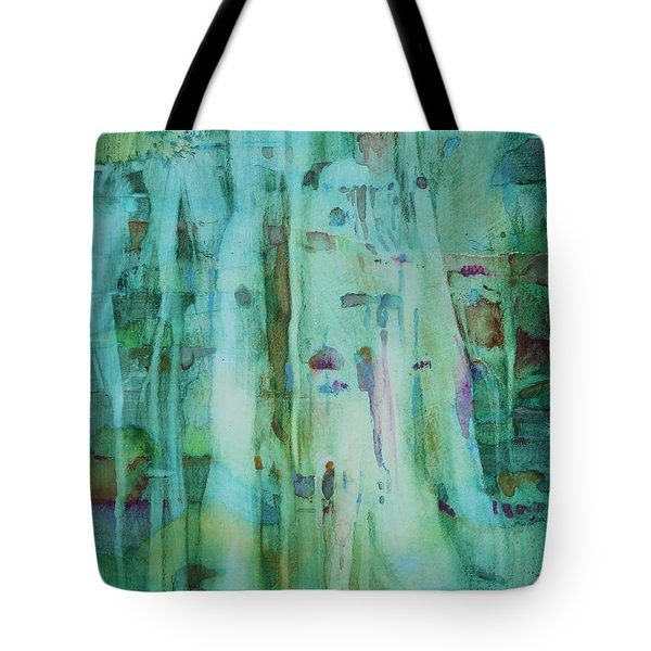 Tote Bag featuring the painting Mossy Falls by Elizabeth Carr