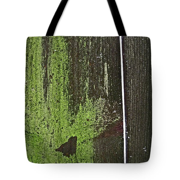 Tote Bag featuring the photograph Mossy Fence 2 by Mary Bedy
